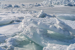 Dirty ice rock. Stock Image