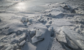 Dirty ice and snow. Stock Images