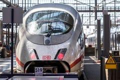 Dirty ICE train in frankfurt am main hesse germany stock photography
