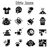 Dirty icon set. Illustration graphic design Stock Image