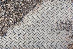 Dirty industrial grip floor texture Royalty Free Stock Photography