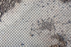 Dirty industrial grip floor texture. Pattern Royalty Free Stock Photo