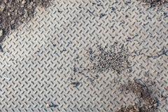 Dirty industrial grip floor texture Royalty Free Stock Photo