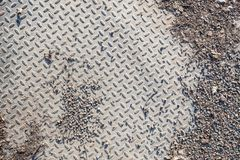 Dirty industrial grip floor texture Royalty Free Stock Images