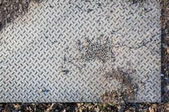 Dirty industrial grip floor texture. Pattern Royalty Free Stock Photography