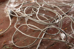 Dirty insulated cable Royalty Free Stock Photos
