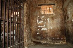 Dirty jail cell Stock Photos