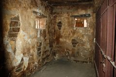 Dirty jail cell. Old and dirty jail cell Royalty Free Stock Image