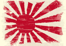 Dirty japan flag stock photography