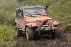 Dirty jeep on competition Royalty Free Stock Photos