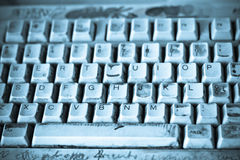 Dirty keyboard Royalty Free Stock Photo