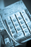 Dirty keyboard Stock Photography