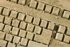 Dirty keyboard stock image