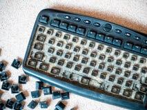 Dirty keyboard Royalty Free Stock Photos