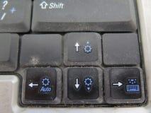 Dirty keyboard keys Royalty Free Stock Photo