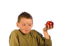Dirty Kid Series - Apple for t Stock Photos