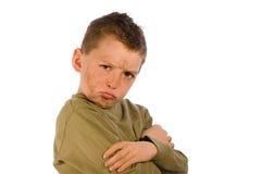 Dirty Kid Series - Grumpy Royalty Free Stock Photography
