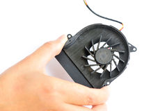 Dirty laptop fan Royalty Free Stock Images