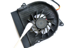 Dirty laptop fan Stock Photography