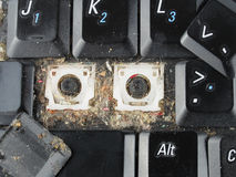 Dirty laptop keyboard Royalty Free Stock Photo