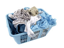 Dirty Laundry. A basket of dirty laundry awaits it's destiny Stock Images