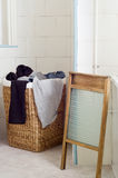 Dirty Laundry in Basket Royalty Free Stock Photography