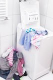 Dirty laundry in the bathroom Royalty Free Stock Photos