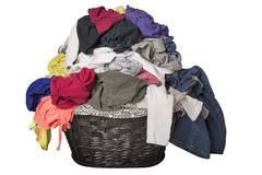 Dirty Laundry In Basket Royalty Free Stock Photos