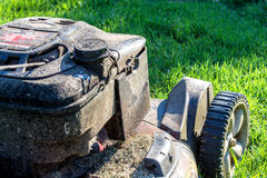 Dirty lawnmower Stock Image