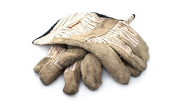 Dirty leather  gloves. Royalty Free Stock Image