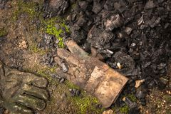 Dirty leather gloves Royalty Free Stock Photo