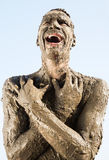 A dirty man Royalty Free Stock Image
