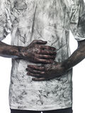 Dirty man Royalty Free Stock Images