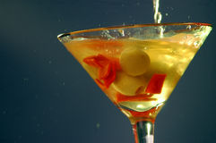 Dirty martini. Splash Royalty Free Stock Photo