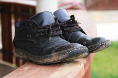 Dirty men shoes Stock Image