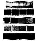 Dirty, messy and damaged strip of celluloid film Royalty Free Stock Images