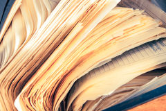 Dirty messy paper documents Royalty Free Stock Image