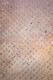 Dirty metal diamond grip pattern. Texture Stock Photos