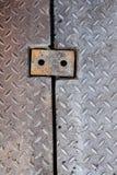 Dirty metal diamond grip pattern Royalty Free Stock Photos