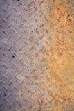 Dirty metal diamond grip pattern. Texture Royalty Free Stock Image
