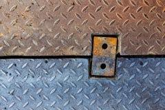 Dirty metal diamond grip pattern. Texture Stock Photography
