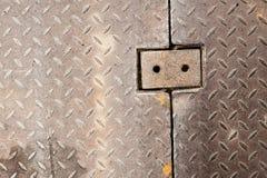 Dirty metal diamond grip pattern. Texture Royalty Free Stock Photos