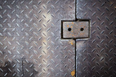 Dirty metal diamond grip pattern Stock Images