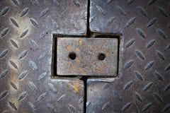 Dirty metal diamond grip pattern Stock Photo