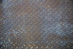 Dirty metal diamond grip pattern texture and background Royalty Free Stock Photo