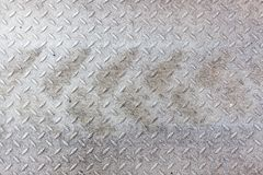 Dirty metal pattern and tyre tracks Stock Image