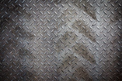 Dirty metal pattern and tyre tracks Stock Photography