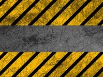 Dirty metal texture - Warning Stock Photo