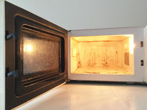 Dirty Microwave Oven. Inside of a dirty microwave oven Stock Photography