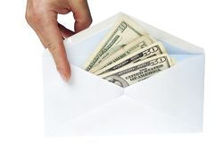 Dirty money Stock Image